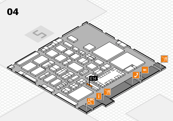 TOP HAIR - DIE MESSE 2018 hall map (Hall 4): stand E14