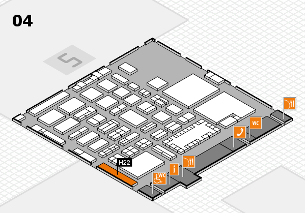 TOP HAIR - DIE MESSE 2018 hall map (Hall 4): stand H22