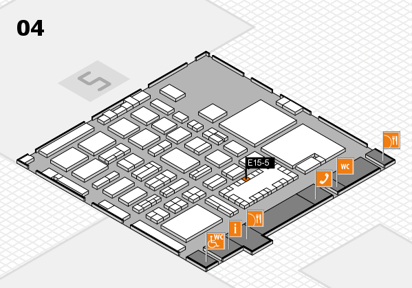 TOP HAIR - DIE MESSE 2018 hall map (Hall 4): stand E15-5