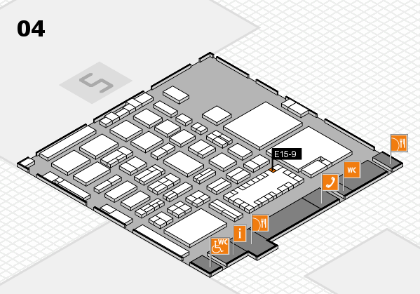 TOP HAIR - DIE MESSE 2018 hall map (Hall 4): stand E15-9