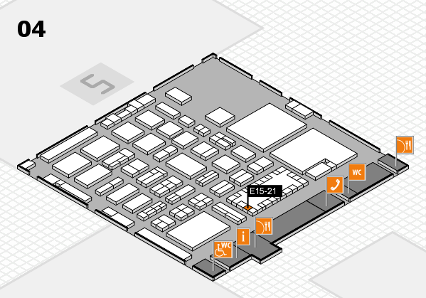 TOP HAIR - DIE MESSE 2018 hall map (Hall 4): stand E15-21