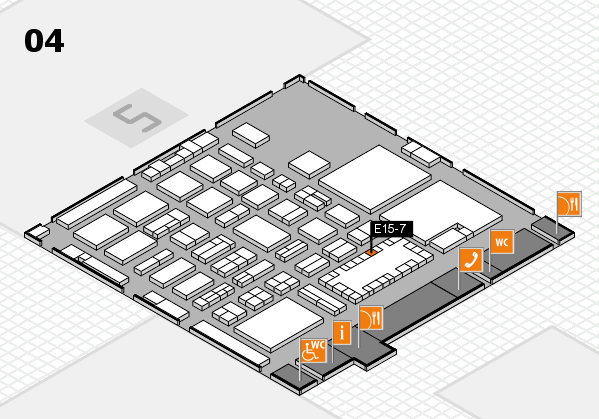 TOP HAIR - DIE MESSE 2018 hall map (Hall 4): stand E15-7