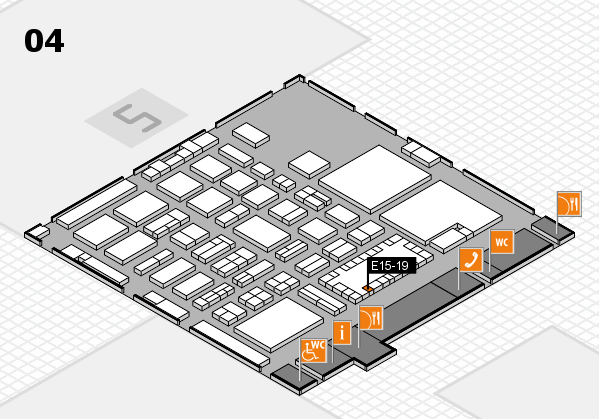 TOP HAIR - DIE MESSE 2018 hall map (Hall 4): stand E15-19