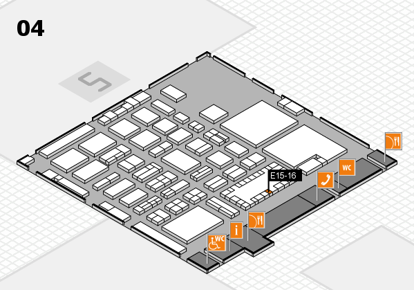 TOP HAIR - DIE MESSE 2018 hall map (Hall 4): stand E15-16