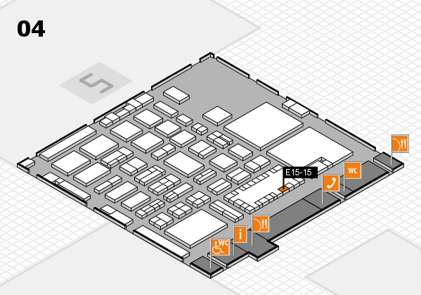 TOP HAIR - DIE MESSE 2018 hall map (Hall 4): stand E15-15