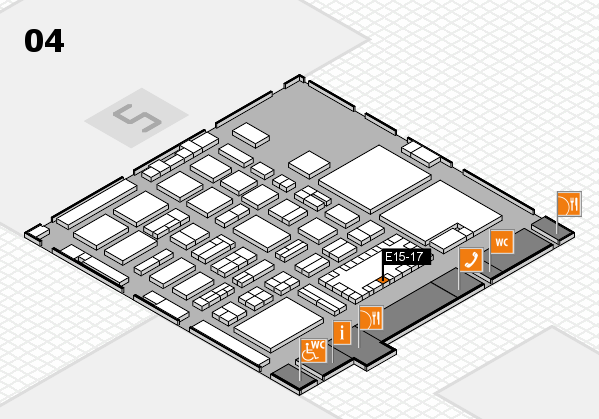 TOP HAIR - DIE MESSE 2018 hall map (Hall 4): stand E15-17