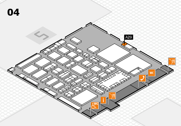 TOP HAIR - DIE MESSE 2018 hall map (Hall 4): stand A29