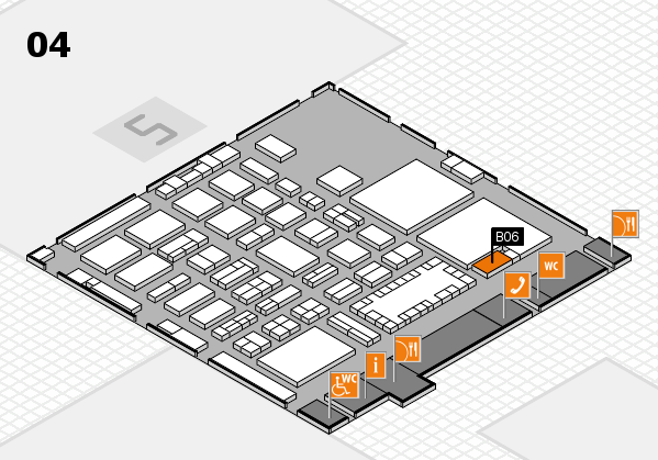TOP HAIR - DIE MESSE 2018 hall map (Hall 4): stand B06