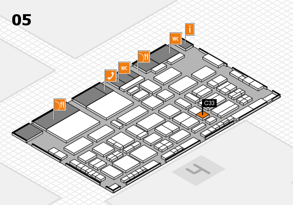 TOP HAIR - DIE MESSE 2018 hall map (Hall 5): stand C33