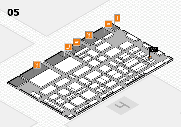 TOP HAIR - DIE MESSE 2018 hall map (Hall 5): stand A33