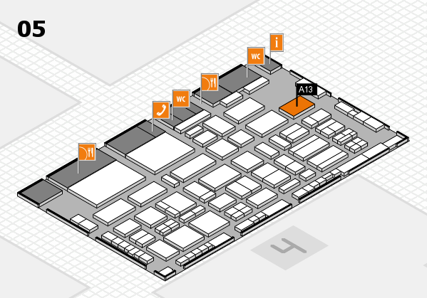 TOP HAIR - DIE MESSE 2018 hall map (Hall 5): stand A13