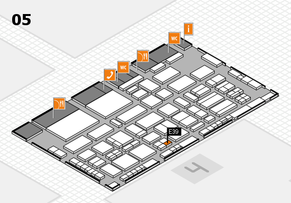 TOP HAIR - DIE MESSE 2018 hall map (Hall 5): stand E39