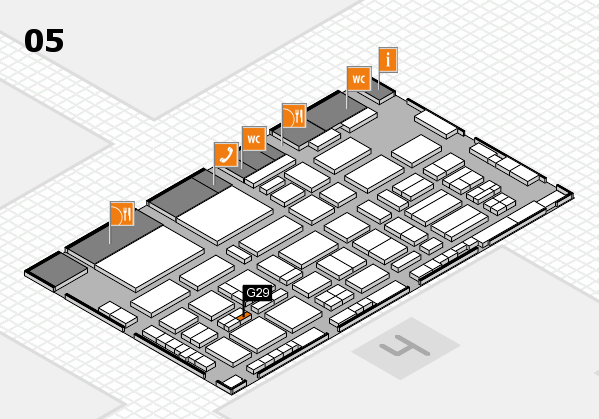 TOP HAIR - DIE MESSE 2018 hall map (Hall 5): stand G29