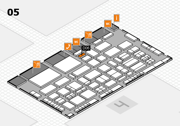 TOP HAIR - DIE MESSE 2018 hall map (Hall 5): stand D06