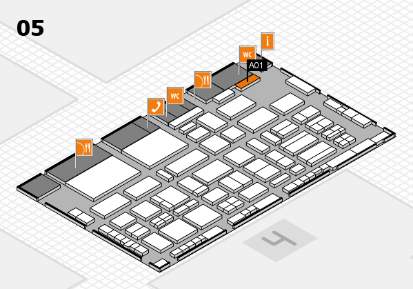TOP HAIR - DIE MESSE 2018 hall map (Hall 5): stand A01
