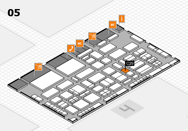 TOP HAIR - DIE MESSE 2018 hall map (Hall 5): stand C29