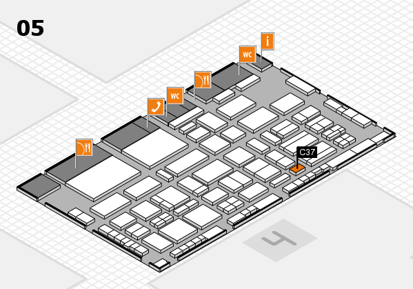 TOP HAIR - DIE MESSE 2018 hall map (Hall 5): stand C37
