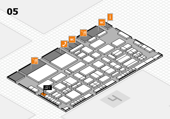 TOP HAIR - DIE MESSE 2018 hall map (Hall 5): stand J21