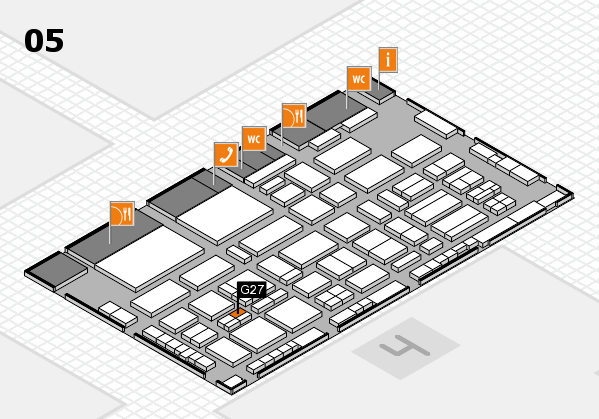 TOP HAIR - DIE MESSE 2018 hall map (Hall 5): stand G27