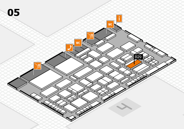 TOP HAIR - DIE MESSE 2018 hall map (Hall 5): stand B29