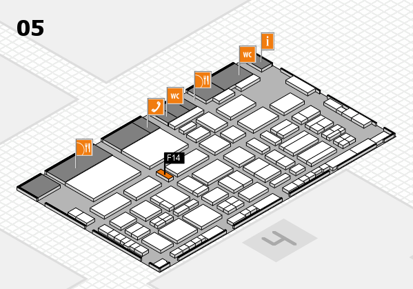 TOP HAIR - DIE MESSE 2018 hall map (Hall 5): stand F14
