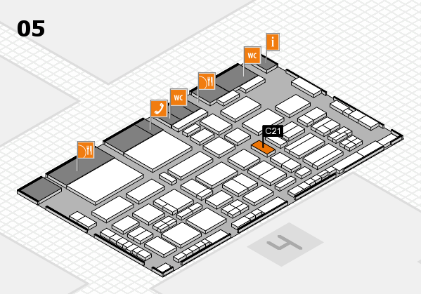 TOP HAIR - DIE MESSE 2018 hall map (Hall 5): stand C21