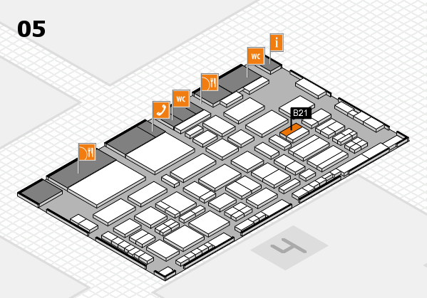 TOP HAIR - DIE MESSE 2018 hall map (Hall 5): stand B21