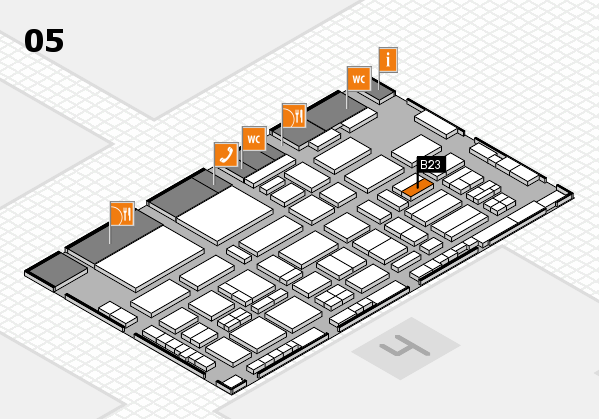 TOP HAIR - DIE MESSE 2018 hall map (Hall 5): stand B23