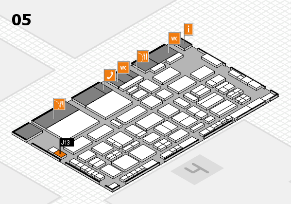 TOP HAIR - DIE MESSE 2018 hall map (Hall 5): stand J13