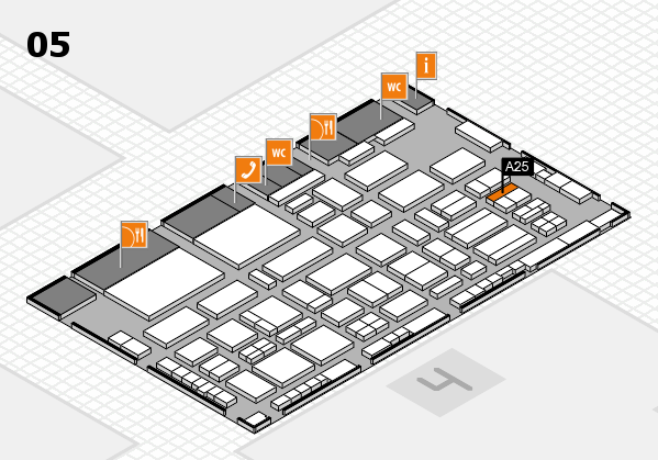 TOP HAIR - DIE MESSE 2018 hall map (Hall 5): stand A25
