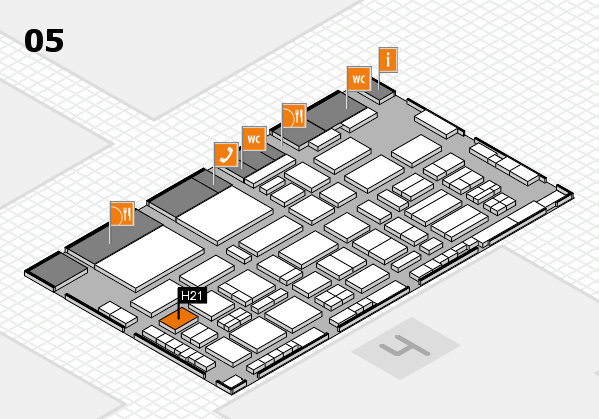 TOP HAIR - DIE MESSE 2018 hall map (Hall 5): stand H21