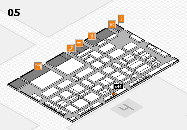 TOP HAIR - DIE MESSE 2018 hall map (Hall 5): stand E44