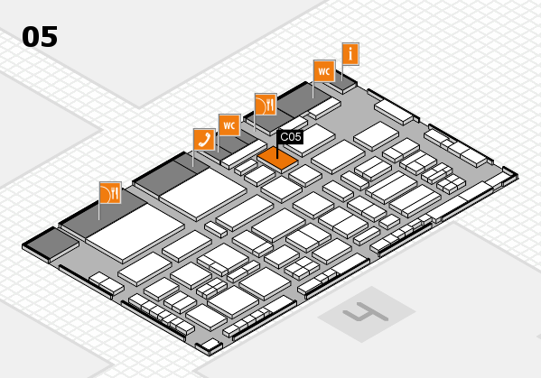 TOP HAIR - DIE MESSE 2018 hall map (Hall 5): stand C05