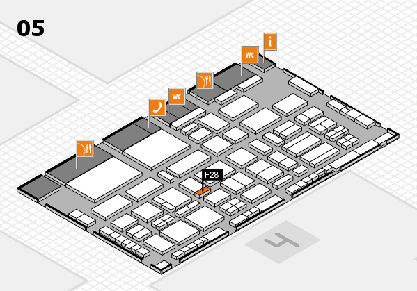 TOP HAIR - DIE MESSE 2018 hall map (Hall 5): stand F28