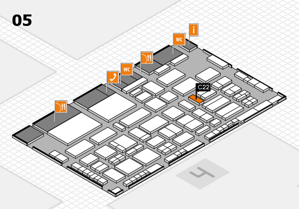 TOP HAIR - DIE MESSE 2018 hall map (Hall 5): stand C22