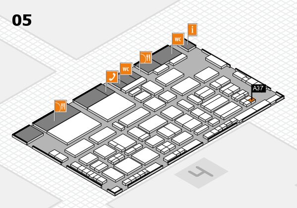 TOP HAIR - DIE MESSE 2018 hall map (Hall 5): stand A37