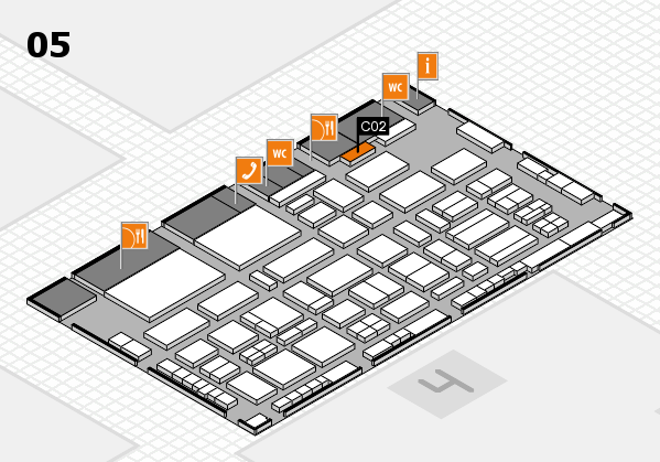 TOP HAIR - DIE MESSE 2018 hall map (Hall 5): stand C02