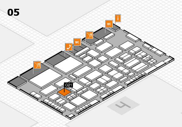 TOP HAIR - DIE MESSE 2018 hall map (Hall 5): stand G21
