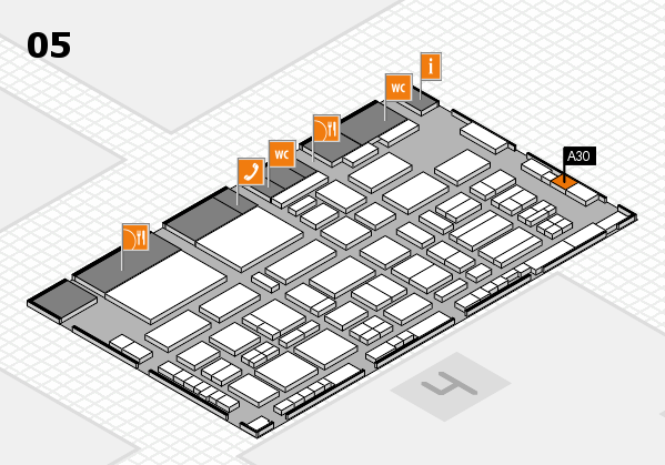 TOP HAIR - DIE MESSE 2018 hall map (Hall 5): stand A30