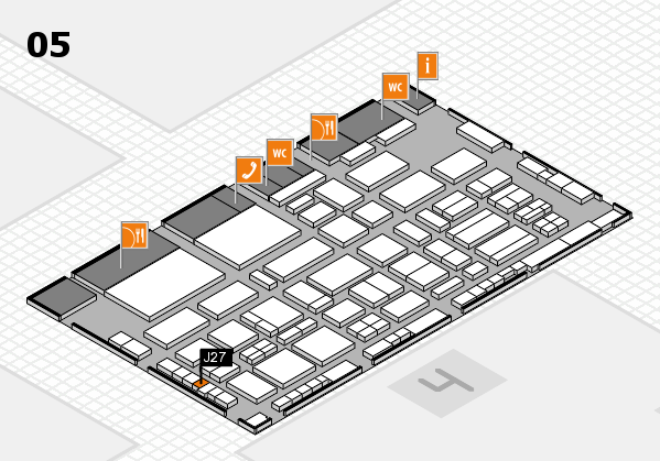 TOP HAIR - DIE MESSE 2018 hall map (Hall 5): stand J27