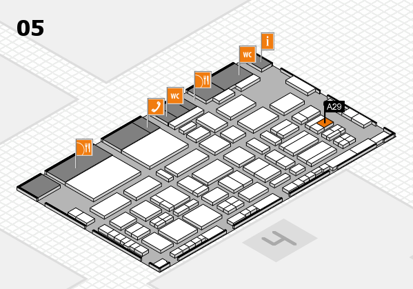 TOP HAIR - DIE MESSE 2018 hall map (Hall 5): stand A29