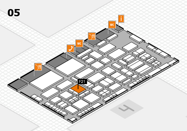 TOP HAIR - DIE MESSE 2018 hall map (Hall 5): stand F21