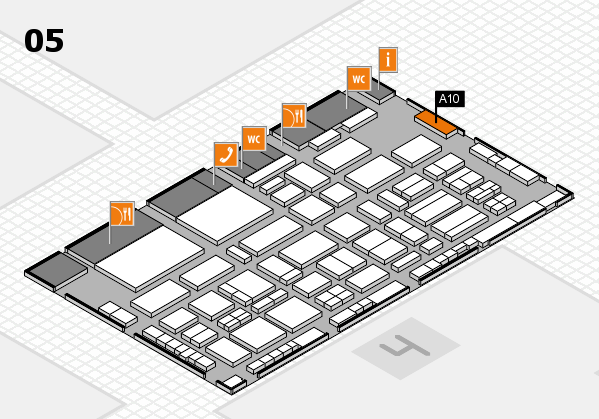 TOP HAIR - DIE MESSE 2018 hall map (Hall 5): stand A10