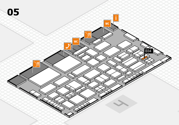 TOP HAIR - DIE MESSE 2018 hall map (Hall 5): stand B34