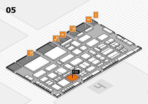 TOP HAIR - DIE MESSE 2018 hall map (Hall 5): stand F33