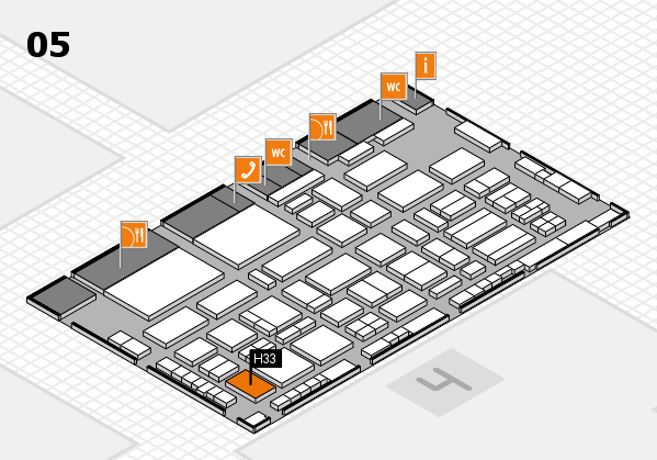 TOP HAIR - DIE MESSE 2018 hall map (Hall 5): stand H33