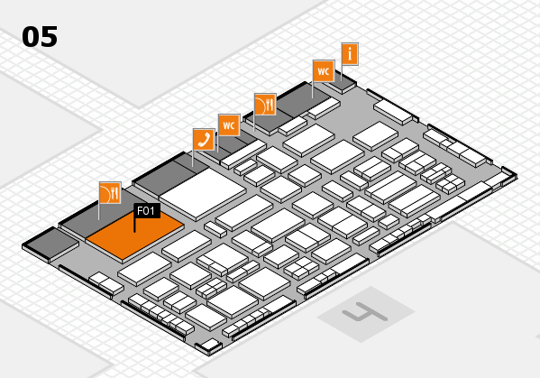 TOP HAIR - DIE MESSE 2018 hall map (Hall 5): stand F01