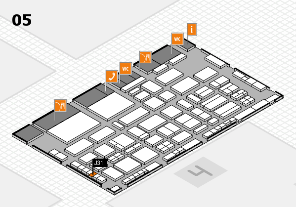 TOP HAIR - DIE MESSE 2018 hall map (Hall 5): stand J31