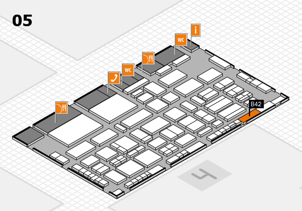 TOP HAIR - DIE MESSE 2018 hall map (Hall 5): stand B42