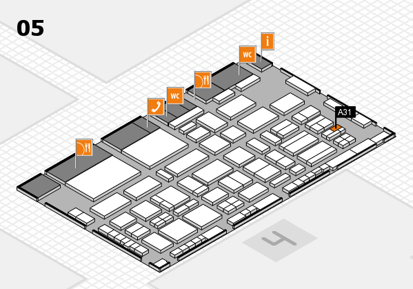 TOP HAIR - DIE MESSE 2018 hall map (Hall 5): stand A31